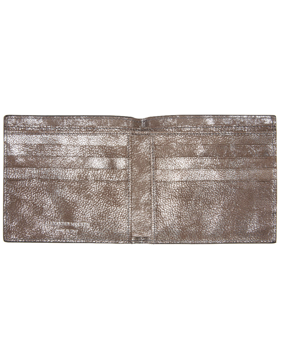 ALEXANDER MCQUEEN Silver Ribcage Bifold Wallet
