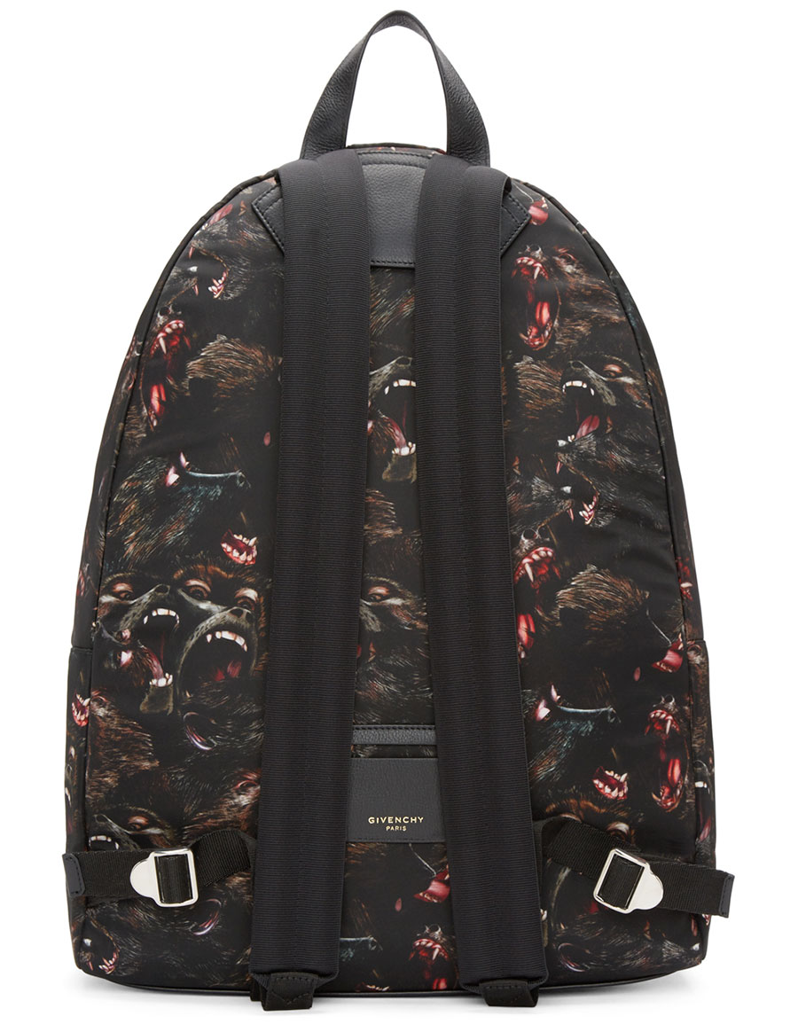 GIVENCHY Black Nylon Monkey Backpack