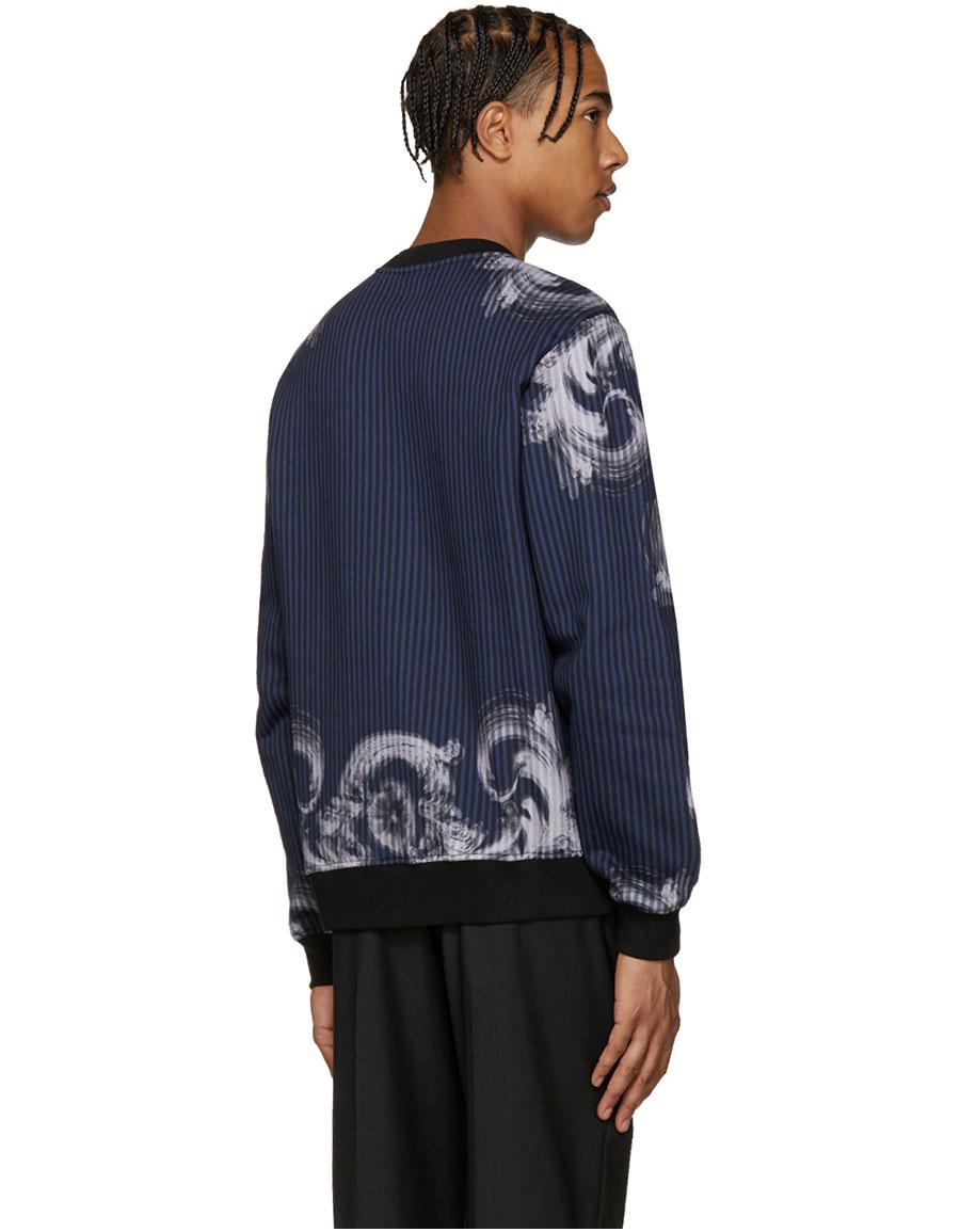 VERSACE Blue Medusa Pullover