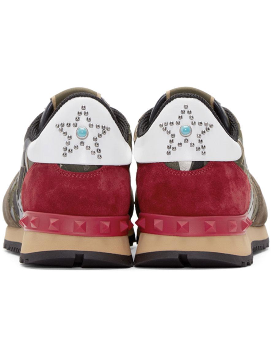 ae00fd85995912 VALENTINO Green Stars Camo Sneakers · VERGLE