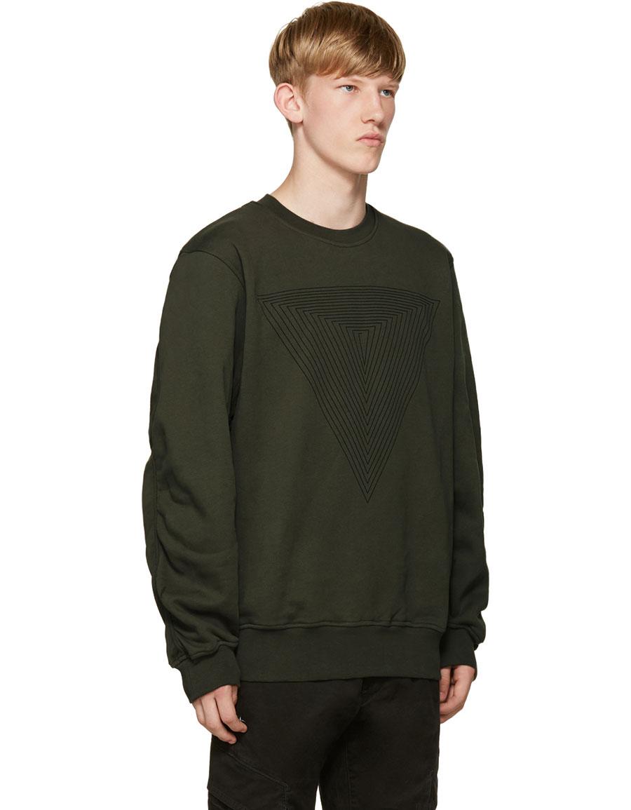 PUBLIC SCHOOL Green Stoma Triangle Sweatshirt
