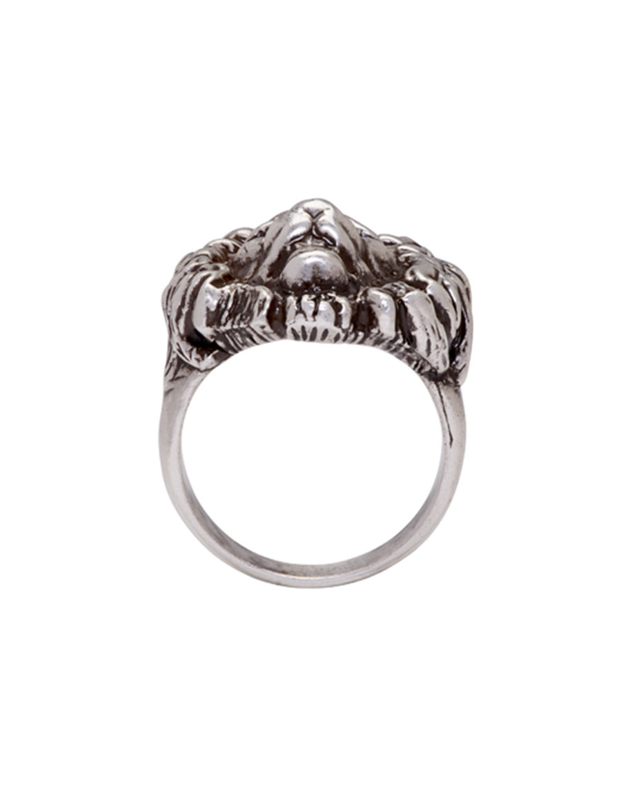 SAINT LAURENT Silver Lion Head Ring
