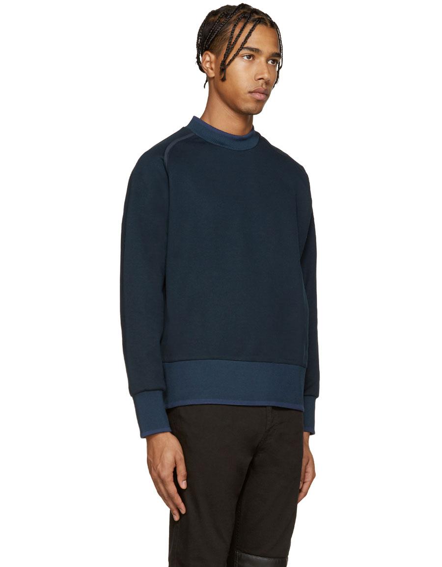 DIESEL Blue Extended Crewneck Sweatshirt