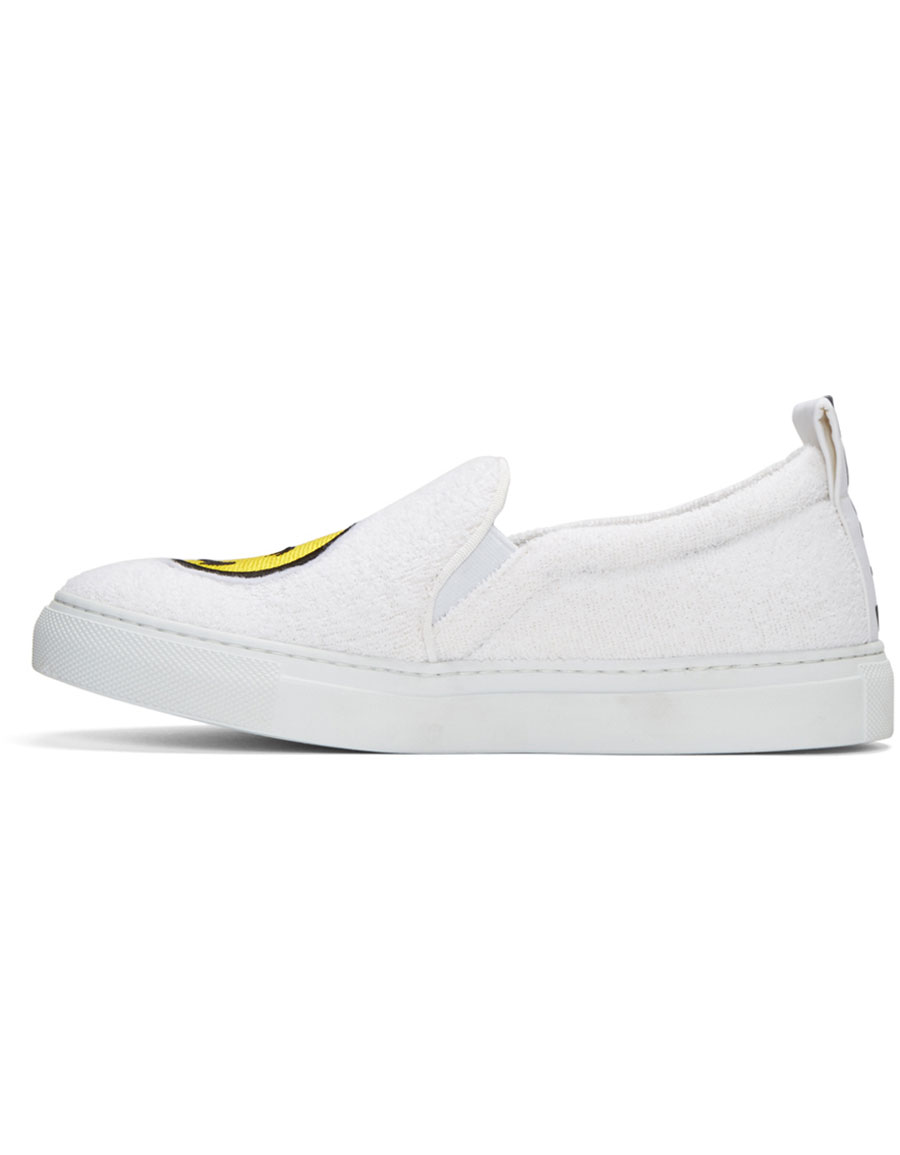 JOSHUA SANDERS White Smile Slip On Sneakers