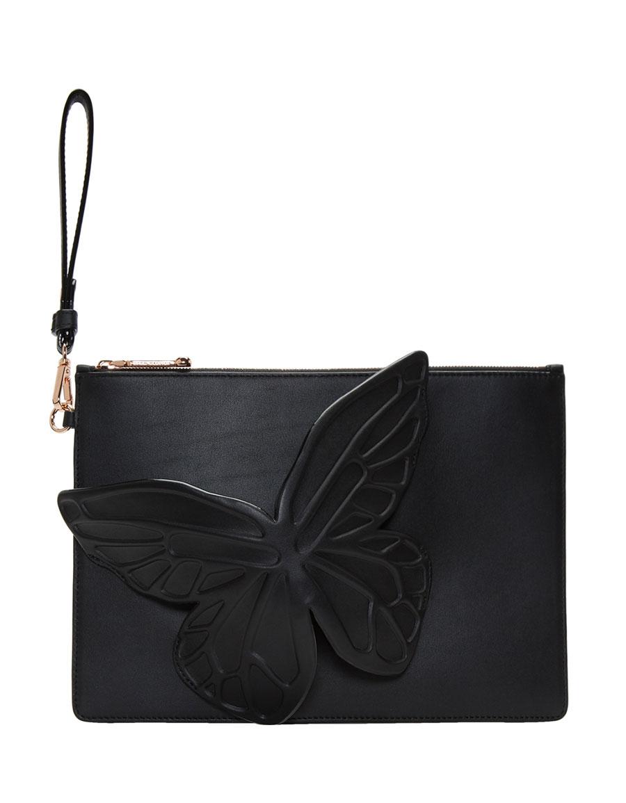 SOPHIA WEBSTER Black Butterfly Flossy Pouch