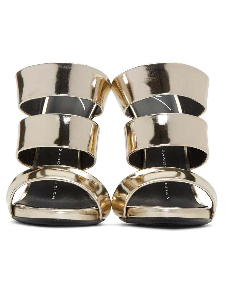 GIUSEPPE ZANOTTI Gold Alien Sandals