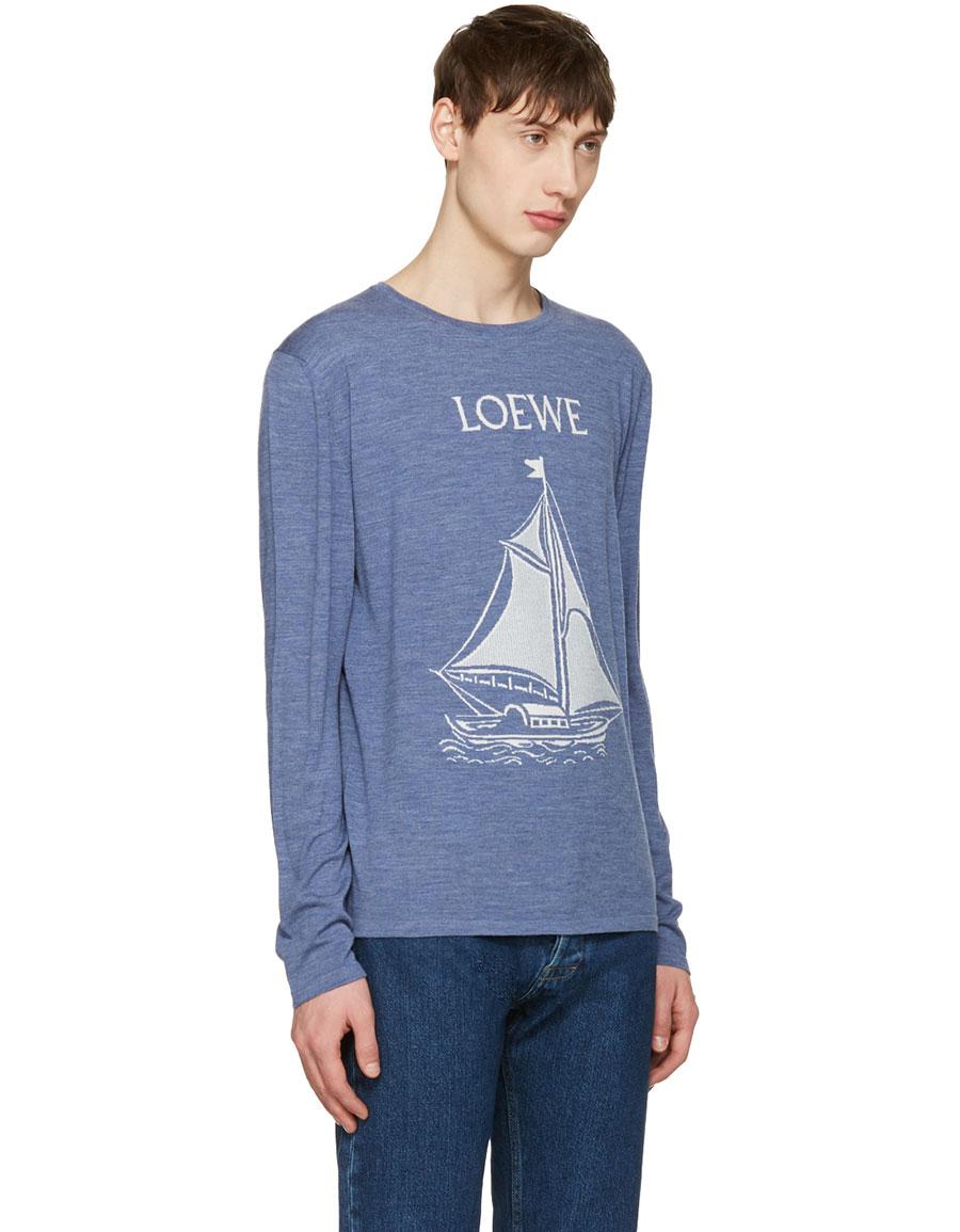 LOEWE Blue Boat Sweater