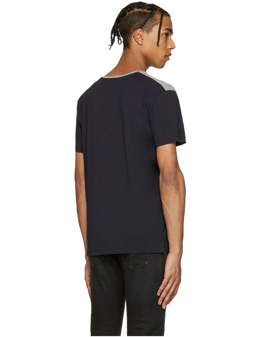 VALENTINO Navy Parrot & Tree T Shirt