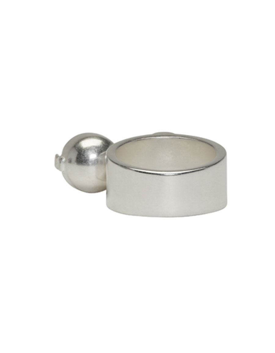 MAISON MARGIELA Silver Pearl Ring