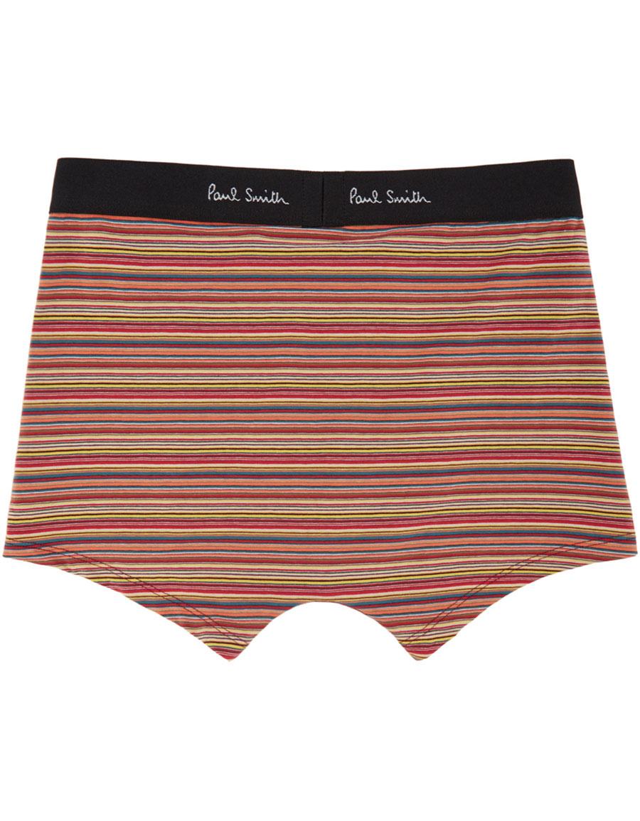 PAUL SMITH Orange Striped Boxer Briefs