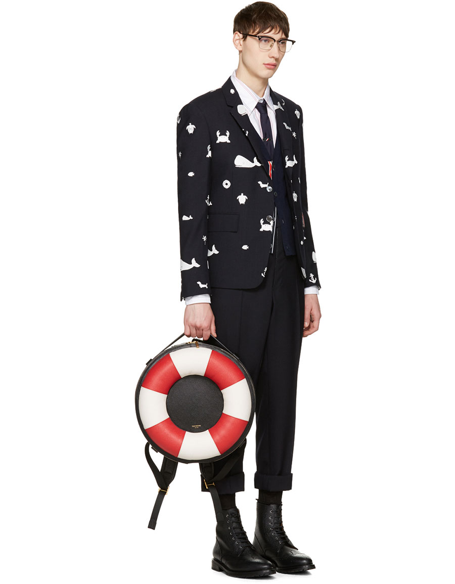 THOM BROWNE Navy Funmix Icon Blazer