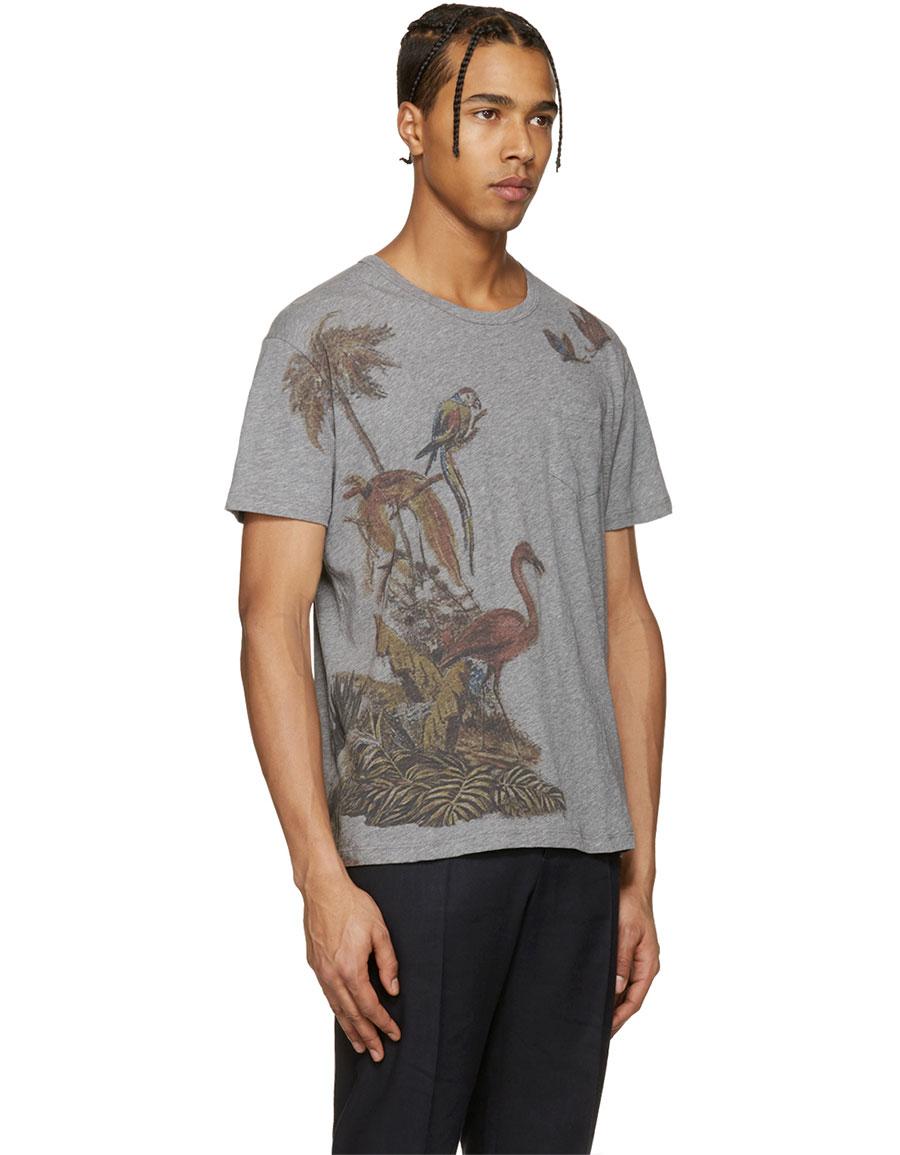 VALENTINO Grey Bird T Shirt