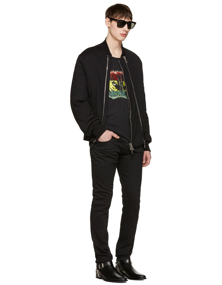 BALMAIN Black 'Yeux de Loup' T Shirt