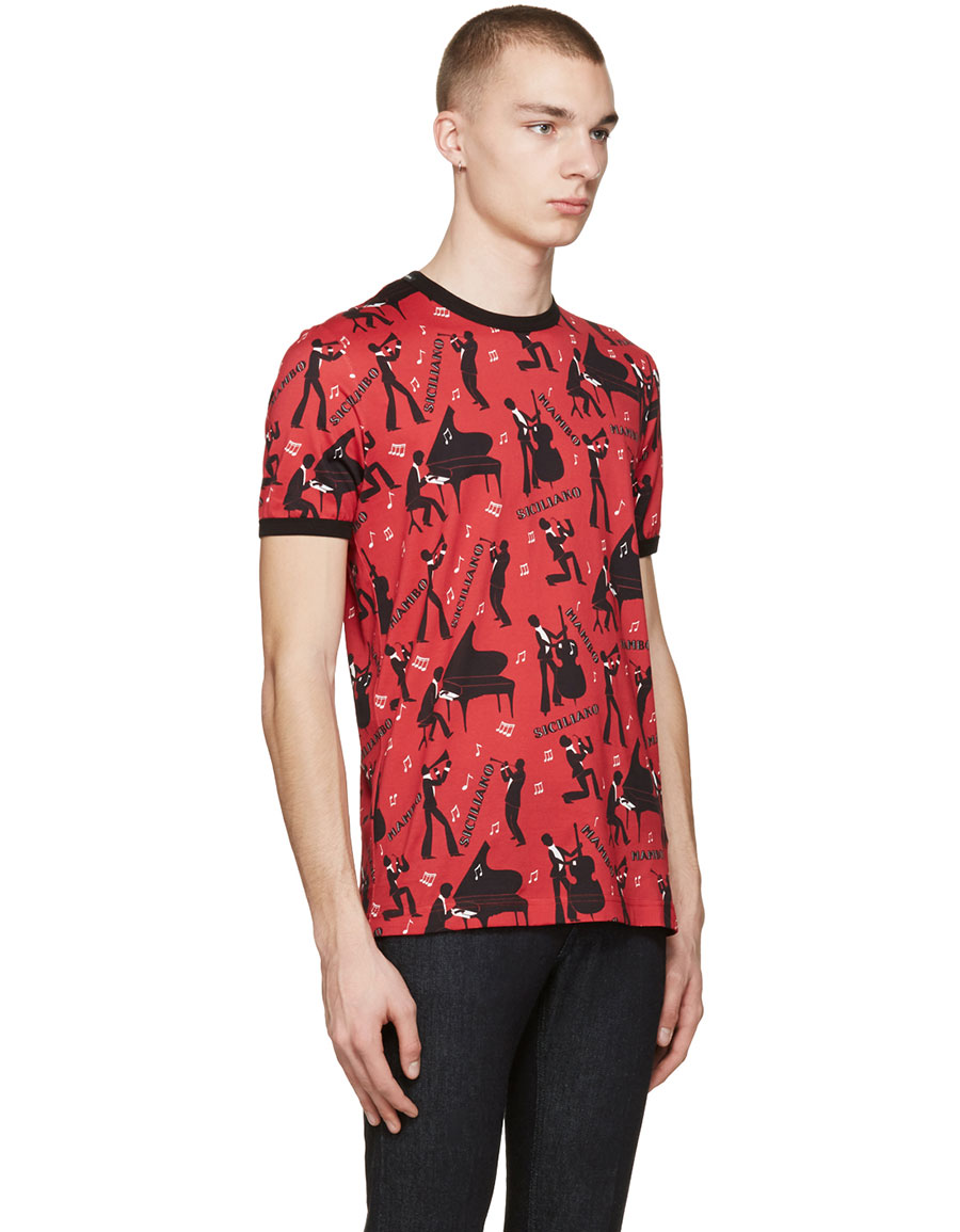 DOLCE & GABBANA Red 'Mambo' T Shirt