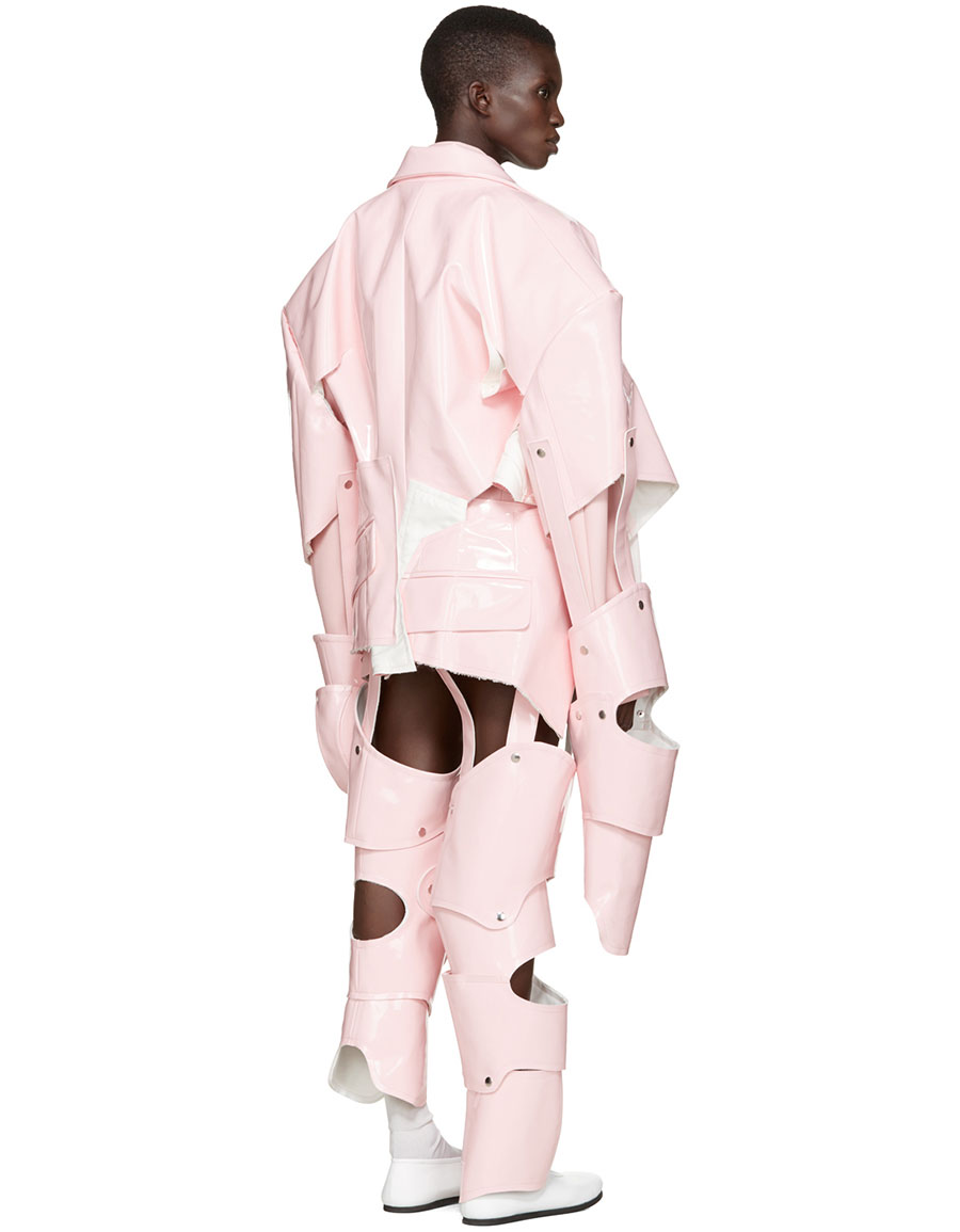COMME DES GARÇONS Pink Cut Out Vinyl Suit