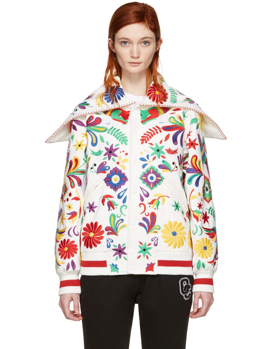OPENING CEREMONY White Mexico Global Varsity Jacket