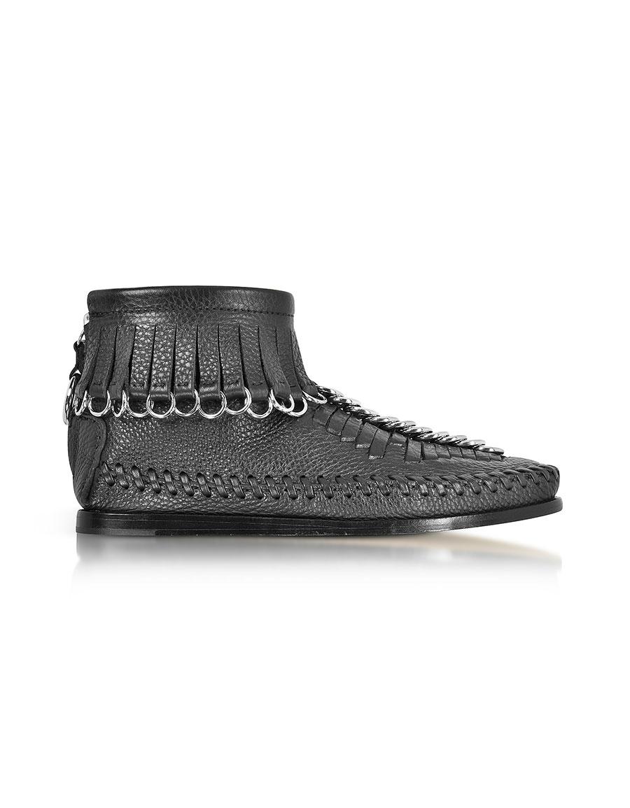 ALEXANDER WANG Montana Black Soft Pebble Leather Bootie