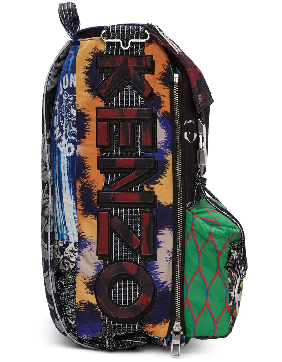 Kenzo Multicolor Eyes Backpack Vergle Bacpack