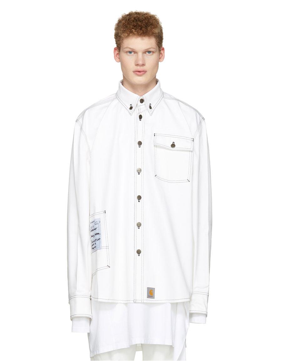 VETEMENTS White Carhartt Edition Workwear Shirt