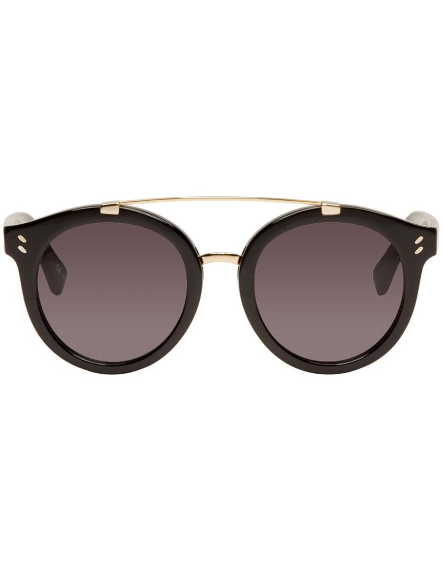 822a3b1719 STELLA MCCARTNEY Black Double Bridge Sunglasses · VERGLE
