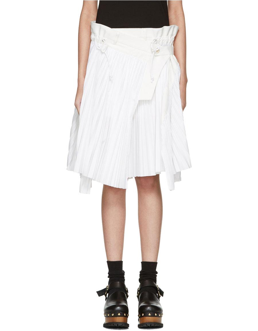 SACAI White Cole Skirt
