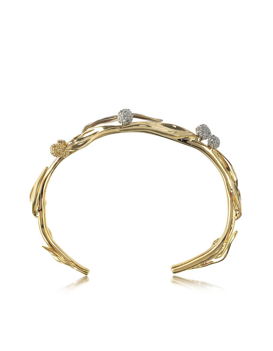 AURELIE BIDERMANN 18K gold plated Brass Mimosa Bangle Bracelet