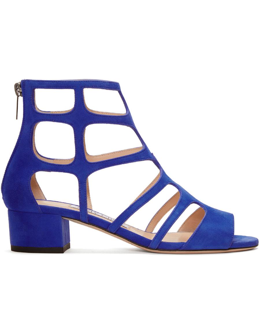 ae45e813d57 JIMMY CHOO Blue Suede Ren Sandals · VERGLE