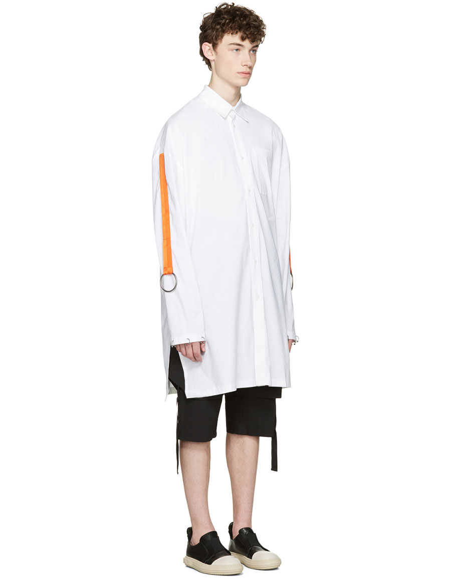 D BY D White Oversized Straps & Rings Shirt