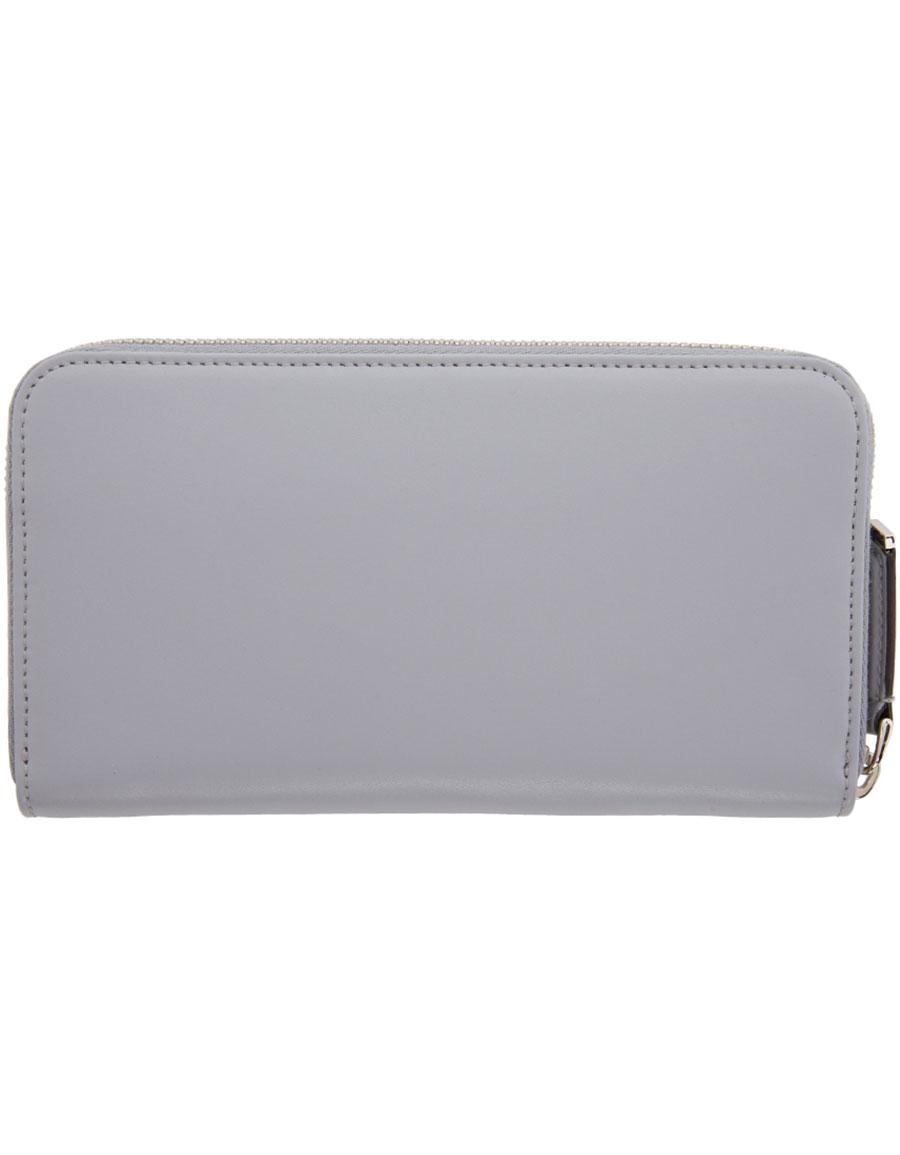 FENDI Grey Rainbow 2Jours Zip Wallet