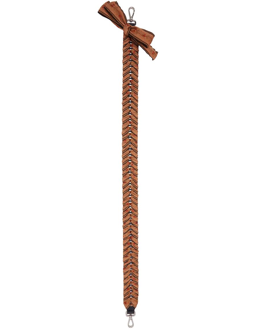 FENDI Beige Ribbon 'Strap You' Shoulder Strap