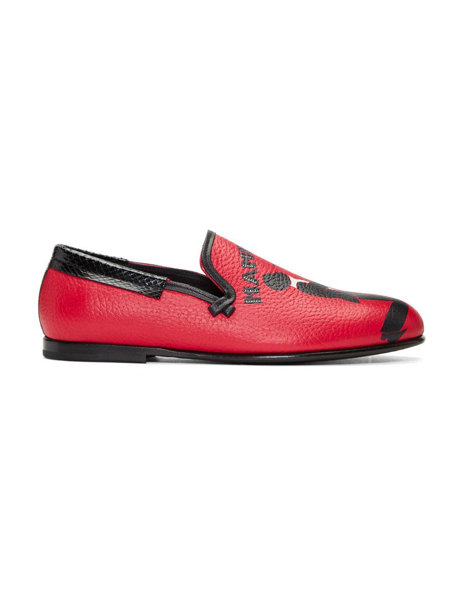 38776fa2d3 DOLCE   GABBANA Red Mambo Loafers · VERGLE