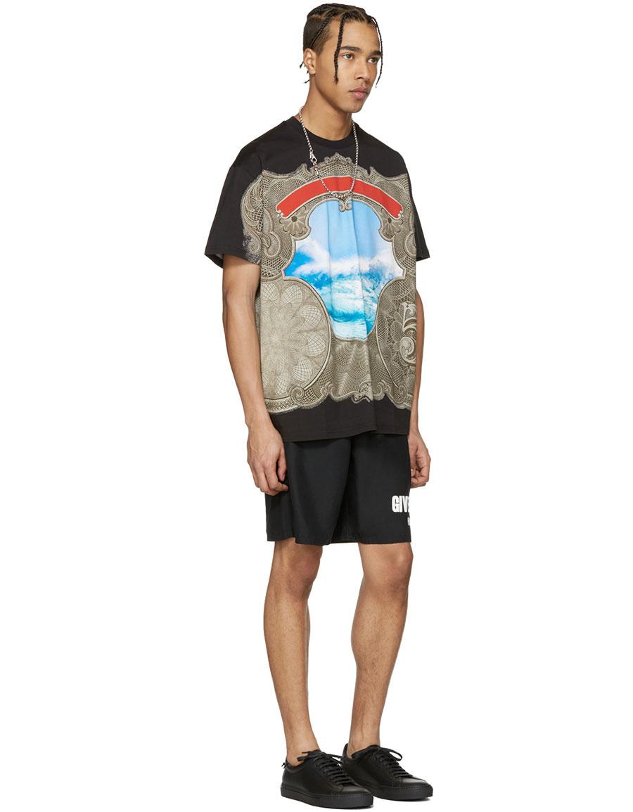 GIVENCHY Black Waves T Shirt
