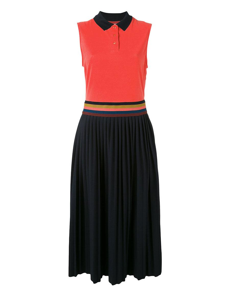 PAUL SMITH Pleated polo dress