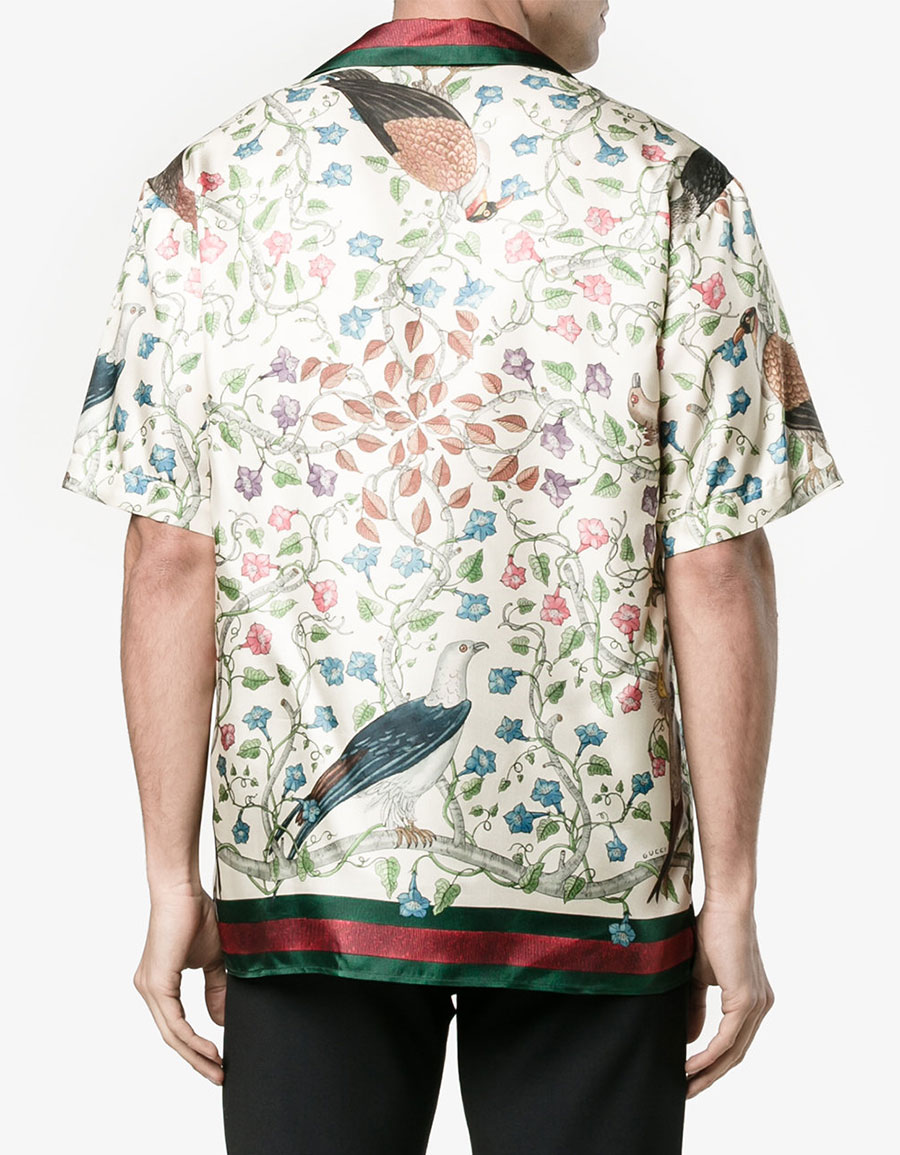 37ecfe1c4 GUCCI Birds of Prey print bowling shirt · VERGLE