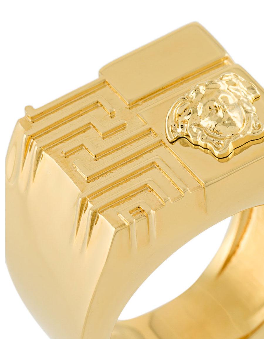 VERSACE Greek Key and Medusa ring