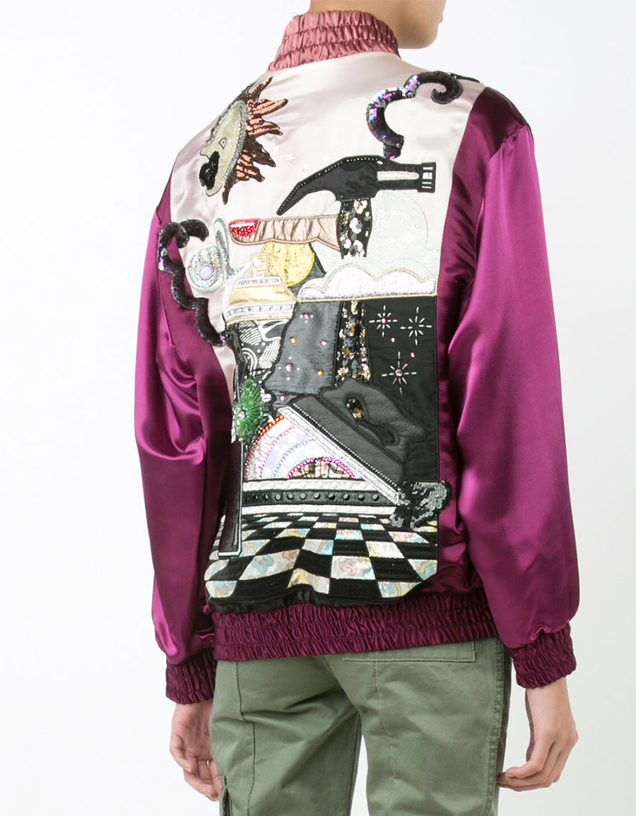 MARC JACOBS Embroidered bomber jacket