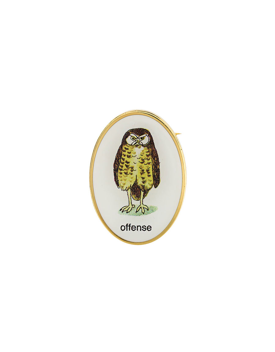 UNDERCOVER Owl pin