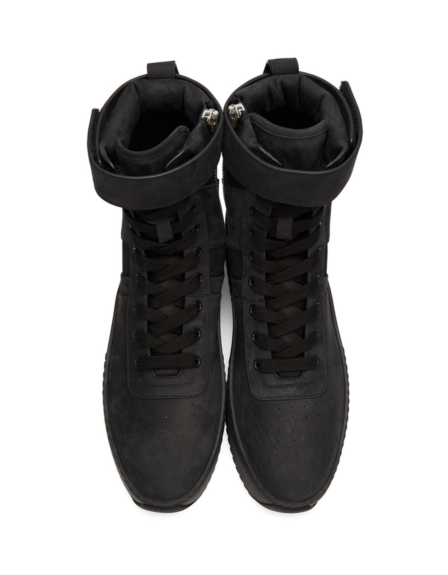 FEAR OF GOD Black Military Sneakers
