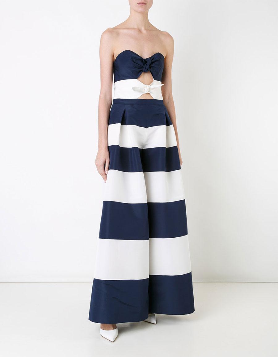 CAROLINA HERRERA Strapless striped jumpsuit