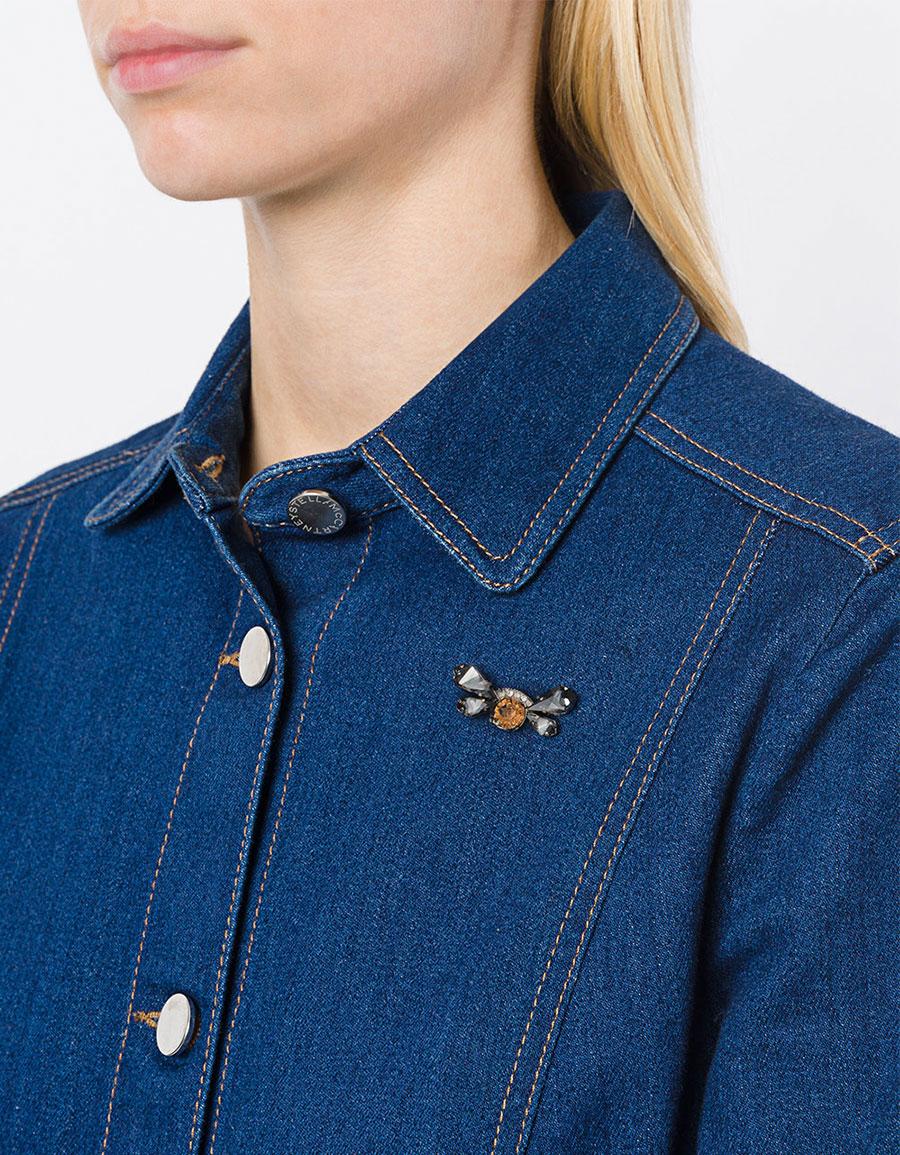 MAISON MICHEL Embellished brooch