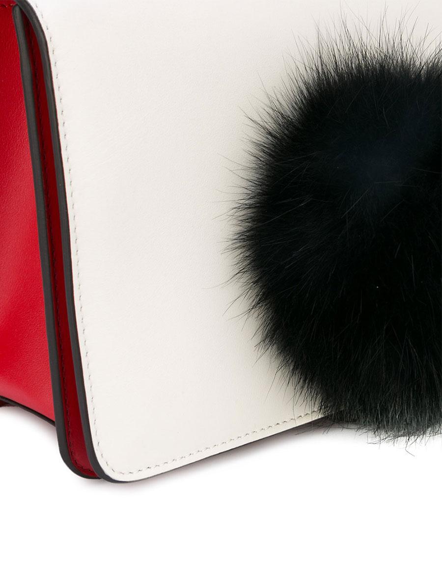 LES PETITS JOUEURS Pompom embellished shoulder bag
