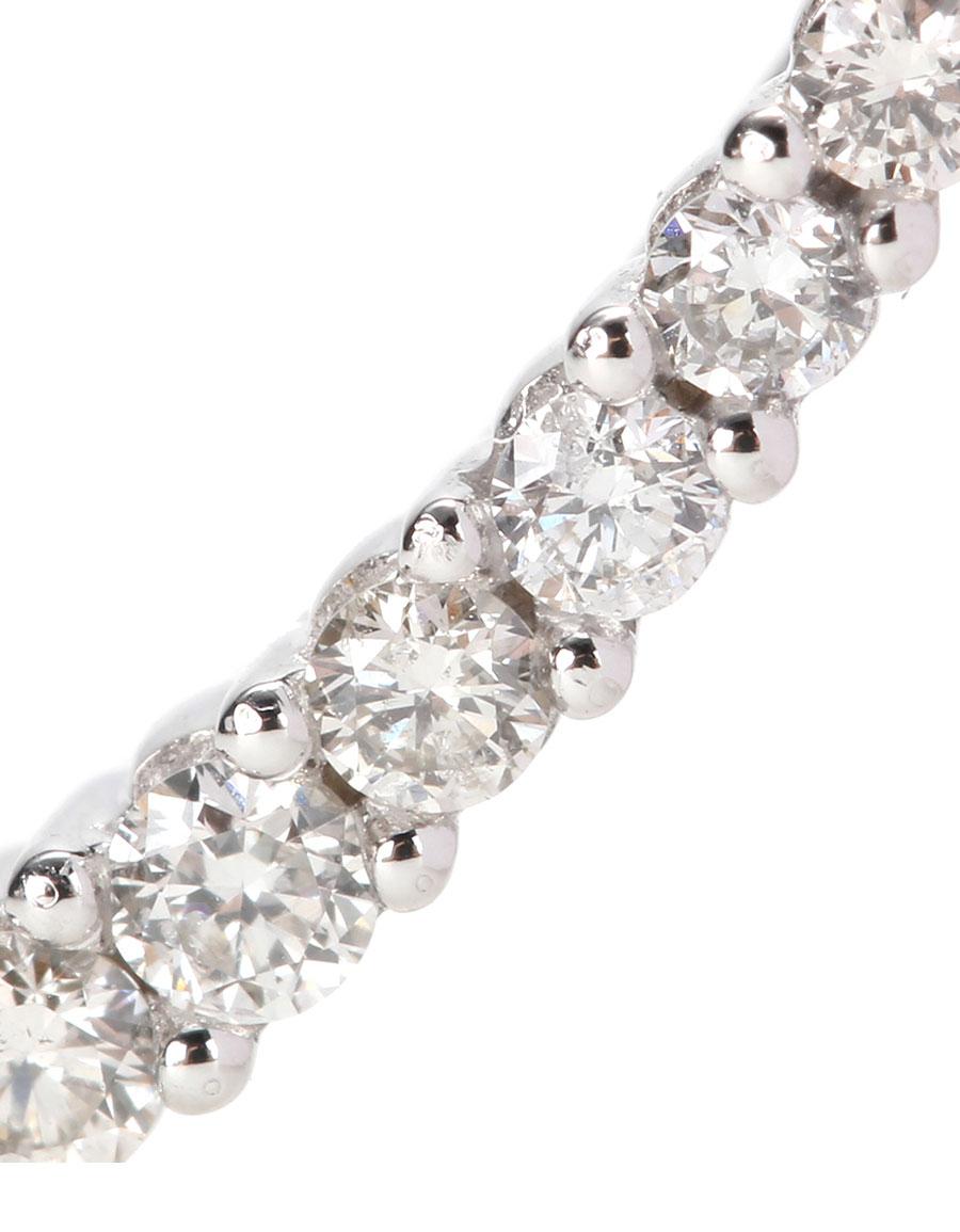 Sydney Evan Prong 14kt white gold earring with white diamonds WjnN0dtMjk