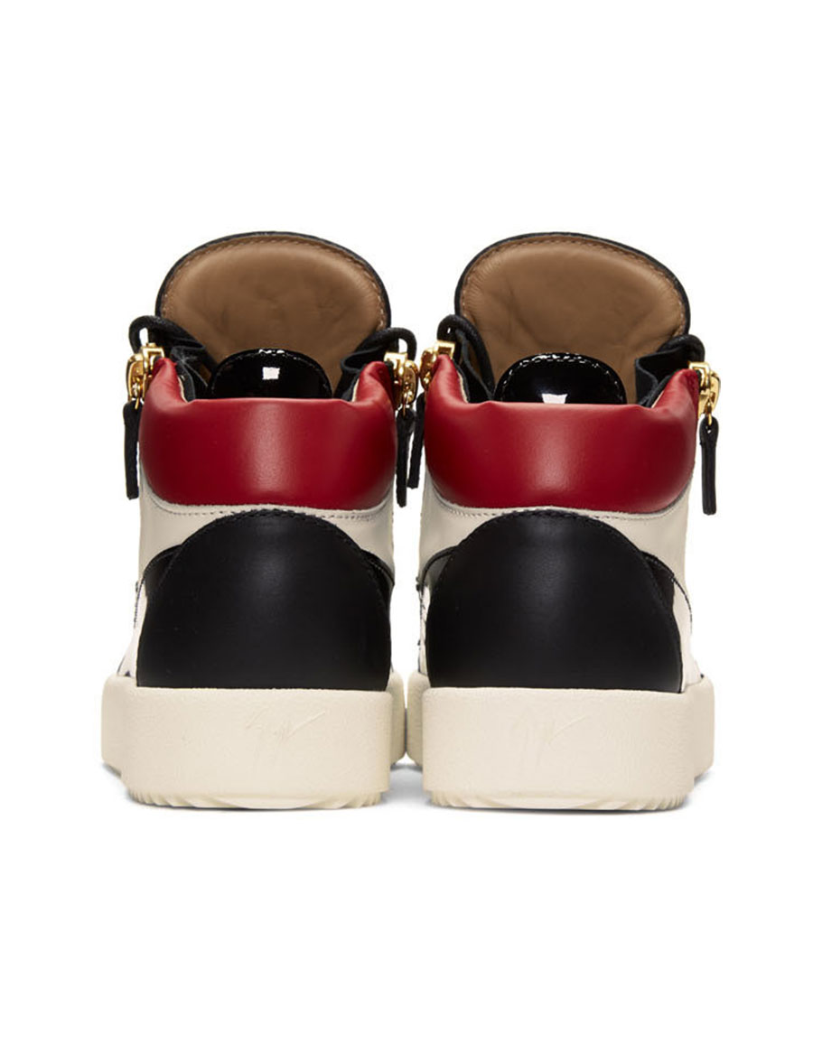 GIUSEPPE ZANOTTI Tricolor May London High Top Sneakers