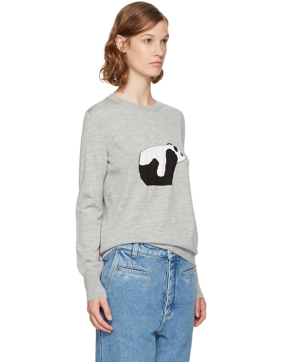 LOEWE Grey Panda Sweater