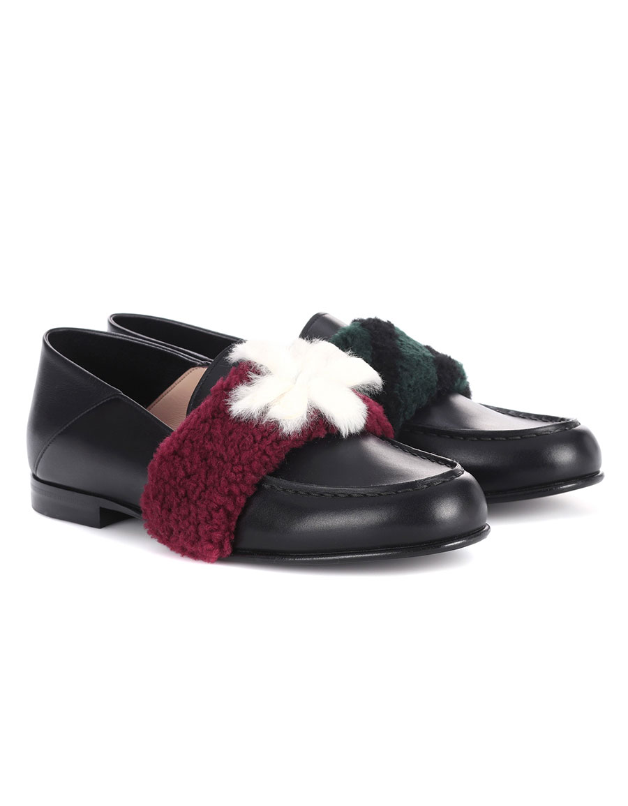 Fendi 2017 Leather Embellished Loafers sale Cheapest wholesale price cheap price hlE4PF4qzi