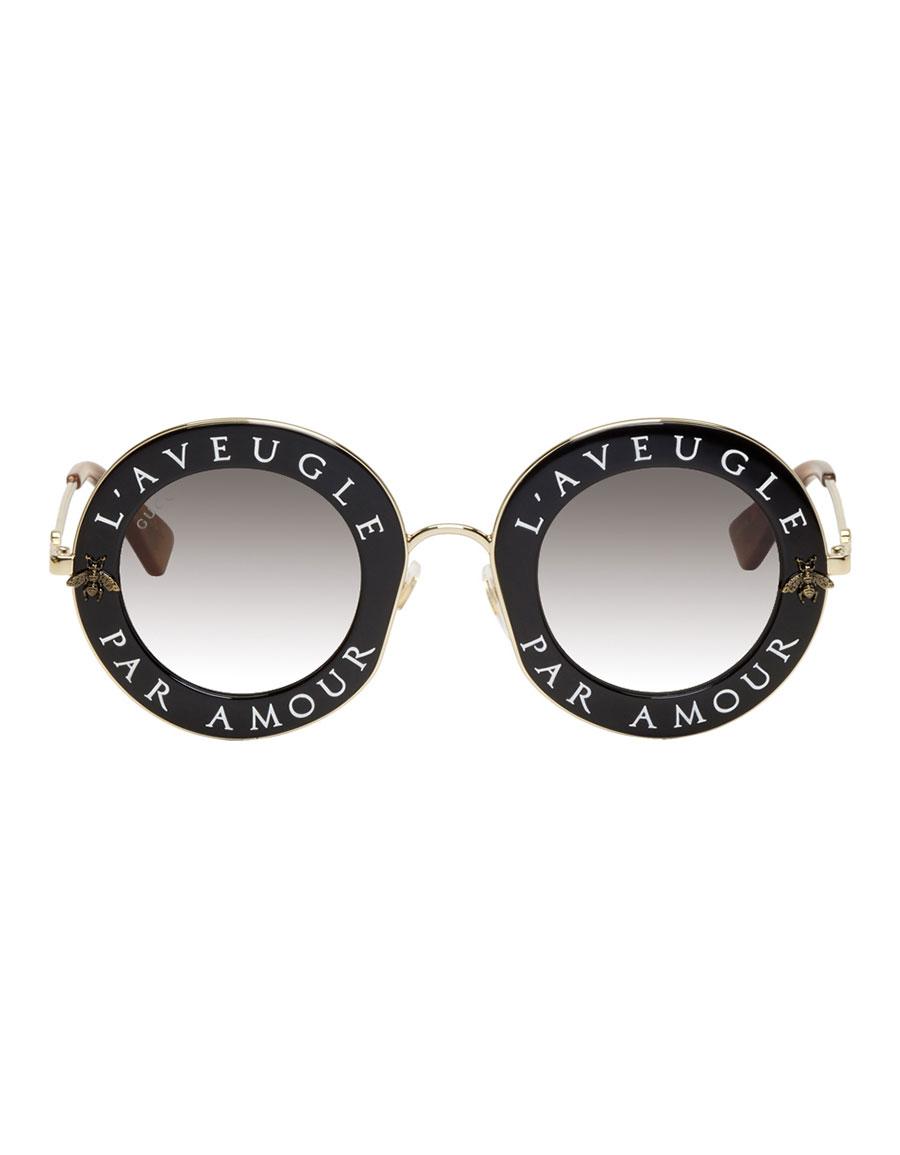 0126fd895899 GUCCI Black  L Aveugle Par Amour  Sunglasses · VERGLE