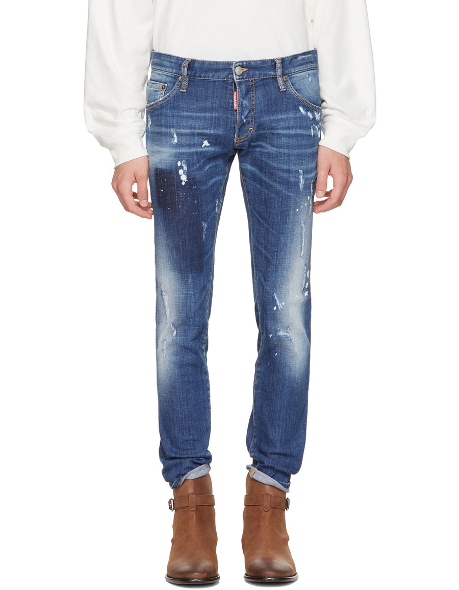 DSQUARED2 Blue Regular Clement Jeans