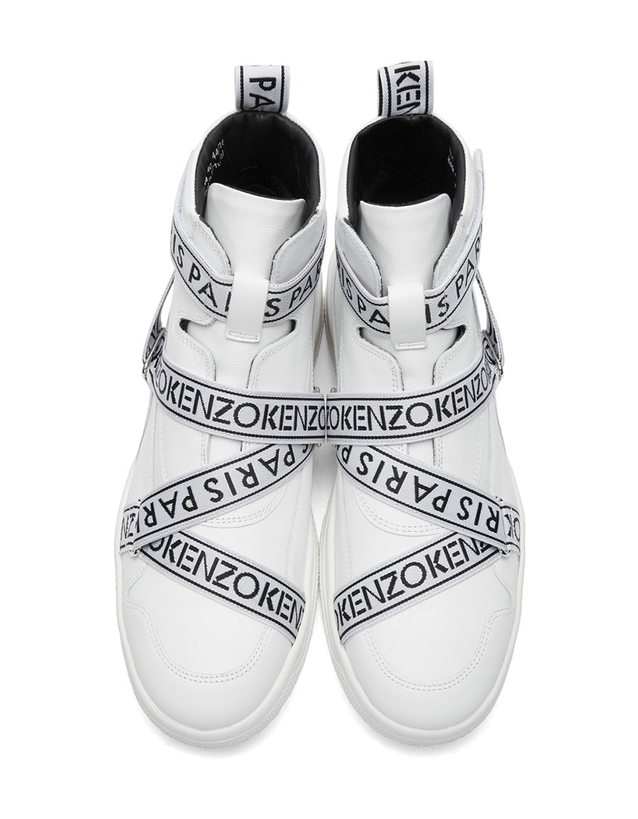 869b4a5d KENZO White Coby High-Top Sneakers · VERGLE