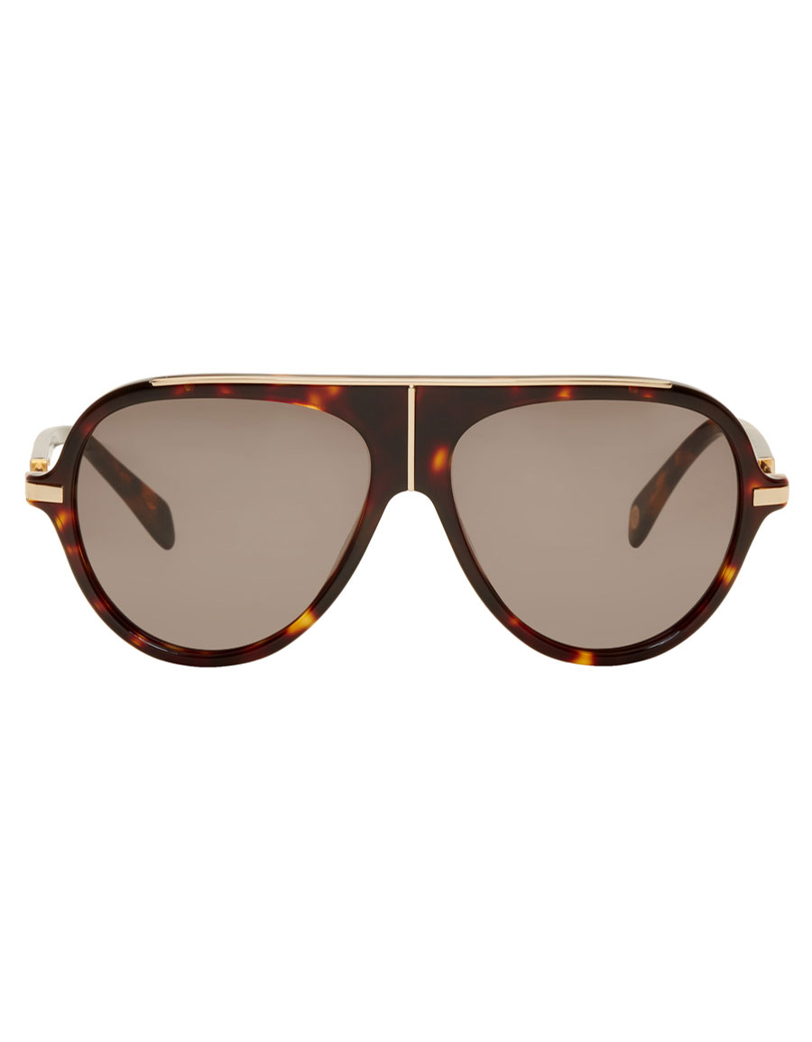 a7ca9c607 BALMAIN Tortoiseshell & Gold Aviator Sunglasses · VERGLE