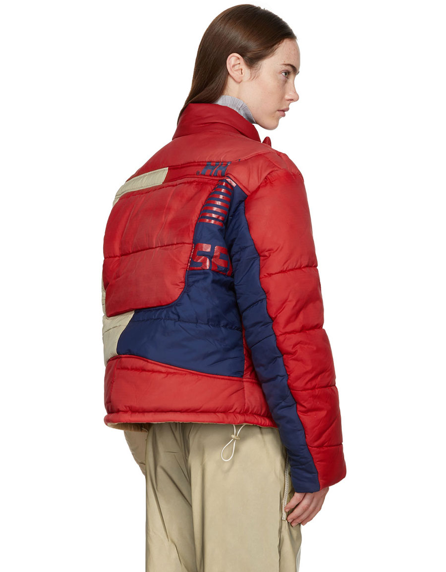 GMBH Beige & Red Helly Hansen Edition Recycled Down Hans Jacket
